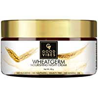 Good Vibes Wheatgerm Nourishing Night Cream - 50 g - Moisturising and Nourishing for All Skin Types - Mineral Oil and…