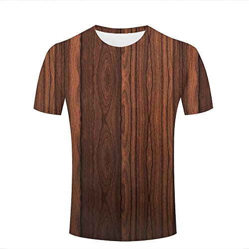 ouzhouxijia Mens T-Shirts 3D Printed Wood Texture Graphic Couple Tees