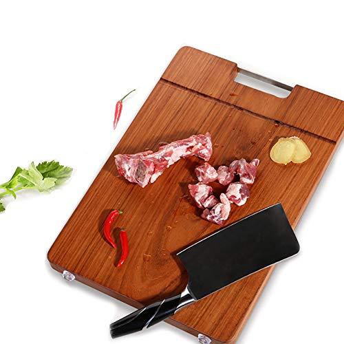 CABNT Palisander Küchenbretter Mit Edelstahl Griff, Reversible Schneidebrett Dauerhaft Carving-Board Für Fleisch Gemüse-27x40cm/10.6x15.7in Carving-board