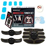 essence' Abs Trainer Machine Abdominal Muscle Toner Ems Stimulator with Neck & Full