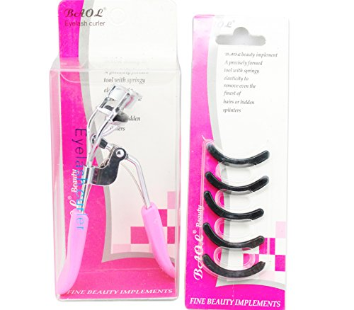 set of  Black Rubber Makeup Tool Eyelash Curler Replacement Pads +eye lash curler COLOR MAY VARY