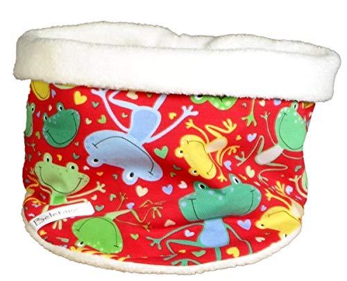 Kuscheliger Loop Schlauchschal für Kinder von Beletage mit Fröschen HM -