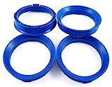 BLAU Zentrierringe 4Stk. 66,6 - 57,1 / 66,6 auf 57,1 kompatibel mit CMS, DBV, Proline Wheels, Keskin, MAM