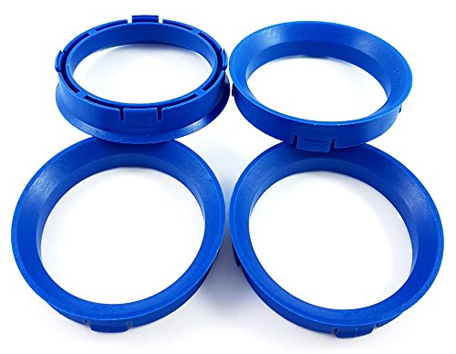 BLAU Zentrierringe 4Stk. 66,6-57,1/66,6 auf 57,1 kompatibel mit CMS, DBV, Proline Wheels, Keskin, MAM