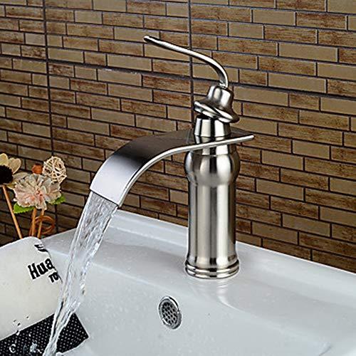 Haus voller Romantik Moderne Badewanne Wasserhahn Wasserfall Nickel gebürstet Centerset EIN Griff...