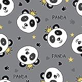 FS390 süßer Panda-Stoff für Kinder, hochwertig, dünner,