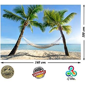 Amazon.de: XXL Poster Strand Hängematte zwischen Palmen am