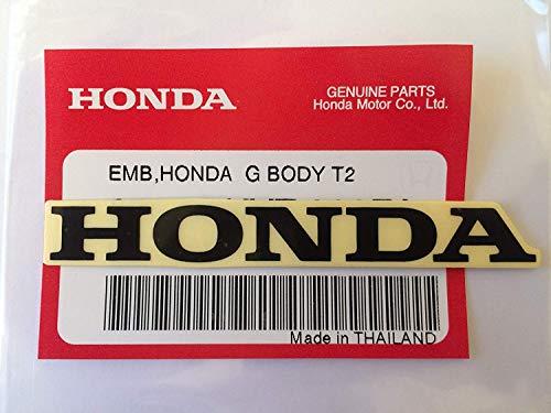 Honda Marco 80mm X 9mm Pegatina Negro 100% Original
