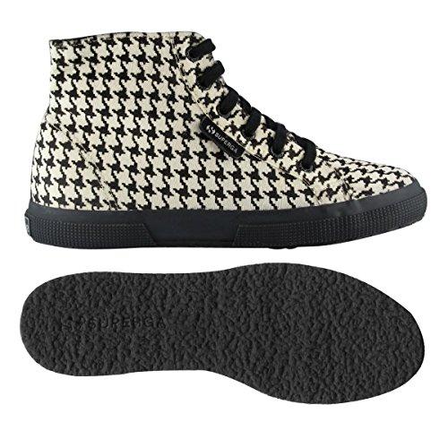 Superga 2095-Plus Leahorsew, Sneaker, Donna PIEDDEPOULEBLACK-WHT
