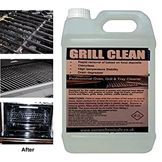 OVEN and TRAY Cleaner BBQ & GRILLS- Commercial strength - thixotropic gel removes baked on food and grease effortlessly