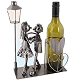 Bada Bing Flaschenhalter Metall LIEBESPAAR Tanzpaar Brautpaar Skulptur Weinhalter Weinständer Figuren Geschenk Hochzeit 95