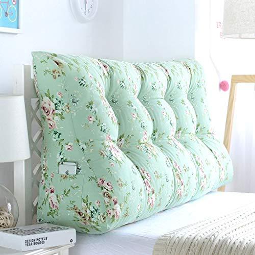 Satte Farbe Kissen für Sofa zurück,Abnehmbarer waschbarer Bezug Keilkissen Lesekissen Einstellbare Kissen Dreieckiger Keil Büro Wohnzimmer Schlafzimmer -4-K