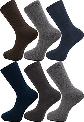 H'octave chaussettes homme fil décosse remaille lot de 6 paires multicolores confortables et respirantes HC01b2_39-42