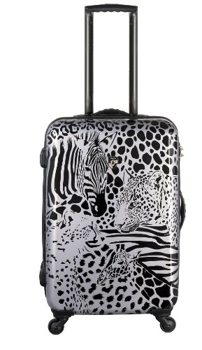 Hardside Beauty Case (PREMIUM DESIGNER Hardside Luggage - Heys Core Serengeti Metallic Silver Trolley with 4 Wheels Large 470576031&Core&122)