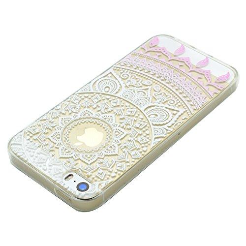 Voguecase® für Apple iPhone 6 Plus/6S Plus 5.5 hülle, Schutzhülle / Case / Cover / Hülle / TPU Gel Skin (Weiße Blumen und Schmetterlinge 01) + Gratis Universal Eingabestift Pink Muster 02