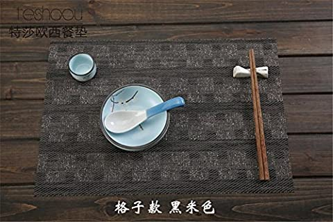 XXFFH Placemat 4Pcs Japanese-Style Placemat Pvc Environmental Protection Washed Insulation