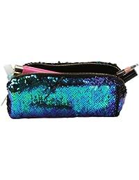 Portátil brillante lentejuelas de doble color para bolígrafos, contenedor de cosméticos, ...