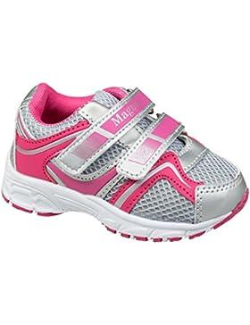 GIBRA® Kinder Sportschuhe, mit Klettverschluss, grau/pink/silber, Gr. 22-27