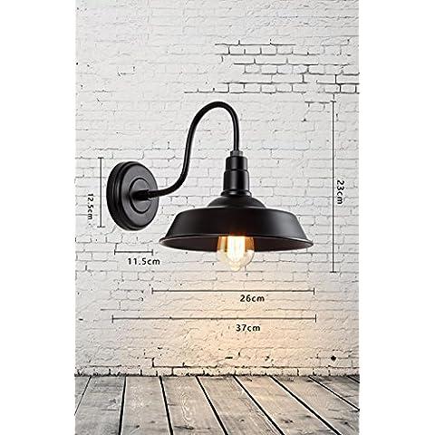 YangR*moderno industriale Vintage pendenti retrò Luce Lampada da parete in metallo regolabile E27 perfetto per Cucina Sala da pranzo Camera Loft Coffee Bar ( bulbo non incluso )