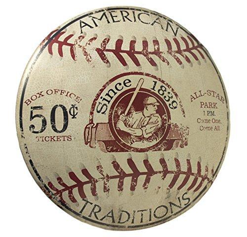 OHIO WHOLESALE Vintage Baseball Dome Schild