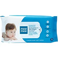Mee Mee Baby Gentle Wet Wipes with Aloe Vera extracts  72 pcs  Pack of 1