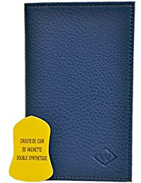 W - Porte-papiers de voiture 3 volets (carte grise, permis de conduire et carte d'assistance ou carte bancaire) - Cuir de Vachette - Plusieurs couleurs