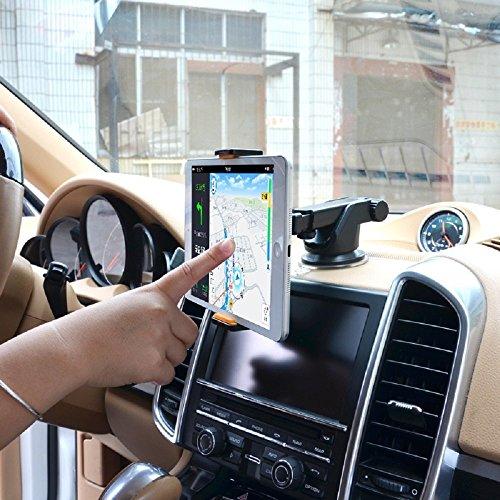 Halterung iPhone X KFZ Halter Auto Halterung KFZ Halter iPhone X für iPhone X iPhone X Saugnapf Halterung iPhone X KFZ Saugnapf Halterung iPad Mini Auto Saugnapf Schwarz Orange