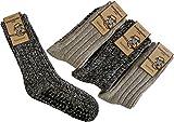 normani 2 Paar Norweger Socken - Antiritsch mit ABS Sohle Farbe Mehrfarbig Größe 43/46