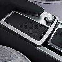 Diyucar - Soporte para consola central de coche, color plateado mate, accesorio embellecedor