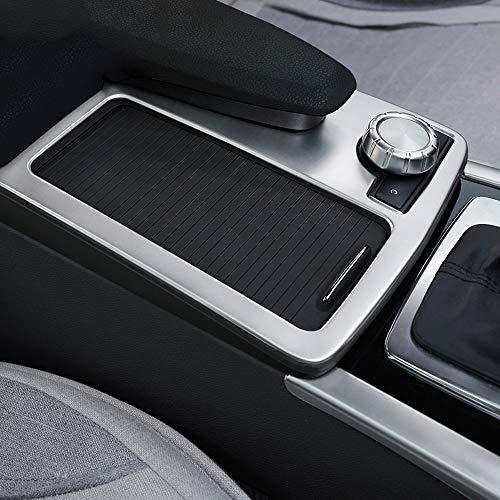 Für C-Klasse W204 2008-2013 Auto ABS matt silber Mittelkonsole Becherhalter Rahmen Trim Zubehör