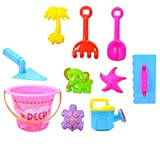 Homyl Kinder Strand Sand Sandbox Spielzeug Set - Inkl. Eimer, Sandschaufel, Sandrechen, Gießkanne, Sandform usw. - 8 Stück