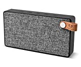 Fresh 'n Rebel Bluetooth-Lautsprecher - Rockbox Slice Fabriq BT Speaker kabellos (Aufladbarer 1400-mAh-Akku - durchschn. Wiedergabezeit: 10h - Bluetooth 4.0) inkl. Micro-USB-Ladekabel Grau