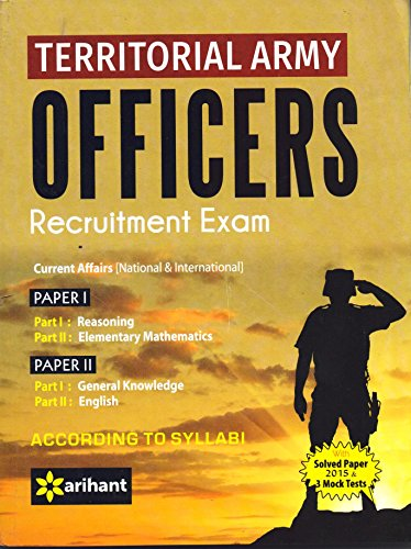 Territorial Army Officers Recruitment Exams