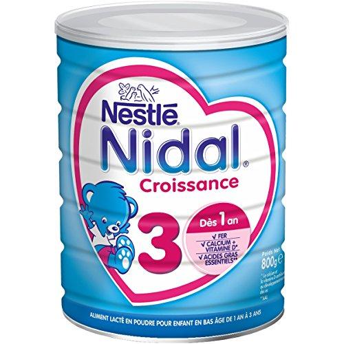 Nestlé Nidal 3 - Lait de Croissance en Poudre de 1 à 3 Ans - 800g - Lot de 3