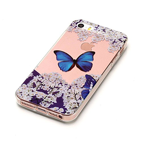 Yaking® Apple iPhone 5/5S Coque Silicone TPU Case Cover Gel Étui Housse pour Apple iPhone 5/5S 6-F