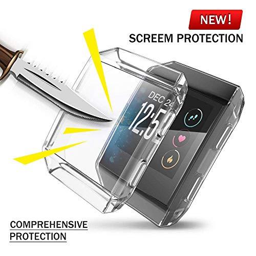 Für Fitbit Ionic Hülle, KTcos TPU Schutzfolie Allround-Schutzhülle High Definition Clear Ultradünne Schutzhülle für Fitbit Ionic Smart Fitness Watch (klar)