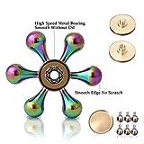 Spinner Fidget Spielzeug,ZOTO Zinklegierung Tri-Spinner Finger Training,Bunt Hand Stressabbau Spielzeug Perfekt für ADS, ADHS, Angstzustände und Autismus Erwachsene Kinder -
