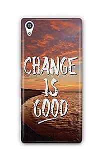 YuBingo Change is Good Designer Mobile Case Back Cover for Sony Xperia Z5 Plus
