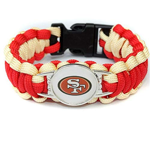 Guojiahao Paracord Survival-Armband aus geflochtenem Fußballschirm, San Francisco 49ers (49ers Armband)