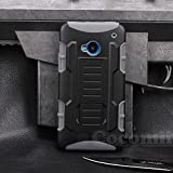 HTC One M7 Custodia, Cocomii Robot Armor NEW [Heavy Duty] Premium Belt Clip Holster Kickstand Shockproof Hard Bumper Shell [Military Defender] Full Body Dual Layer Rugged Cover Case Paraurti (Gray)