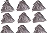 100 Stück Abbrechklingen 18mm brei 0,5mm stark Cutterklingen Cuttermesser Cutter Klingen Messer Ersatzklingen im Spender