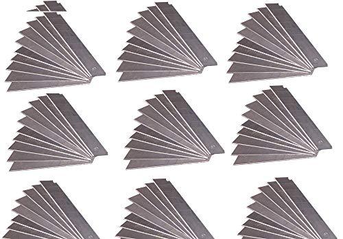 200 Stück Abbrechklingen 18mm brei 0,5mm stark Cutterklingen Cuttermesser Cutter Klingen Messer Ersatzklingen im Spender