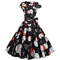 Lucky H Womens Swing Dress, 30s 40s 50s 60s Vintage Dress,Audrey Hepburn Style Evening Party Rockabilly Dresses,Women