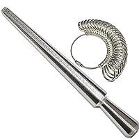 Yefun Ring Sizer Mandrel Stick Professional Finger Gauge Measure Jewellery Kit Tool UK Sizer for Men/Women Engagement(UK