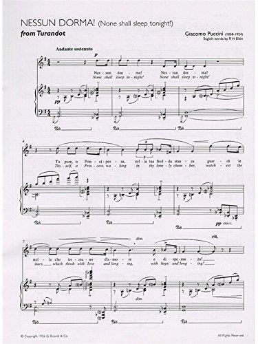 Nessun Dorma (Turandot) E-L Key G (T)