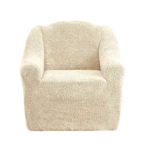 Mixibaby Sofabezug Sofahusse Sesselbezug Sitzbezug Sesselüberwurf Husse 1er Sofa Wellsoft, Farbe:Muskat