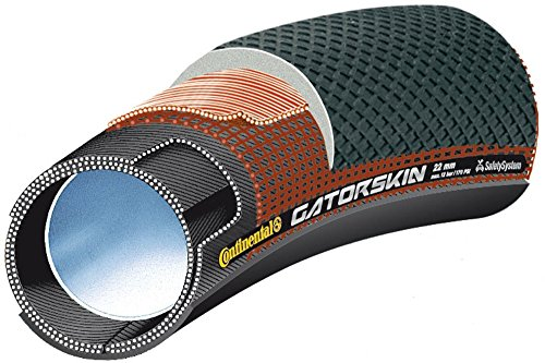 Continental Sprint Gators Tubular de Carretera, Unisex adulto, Negro, 700x22