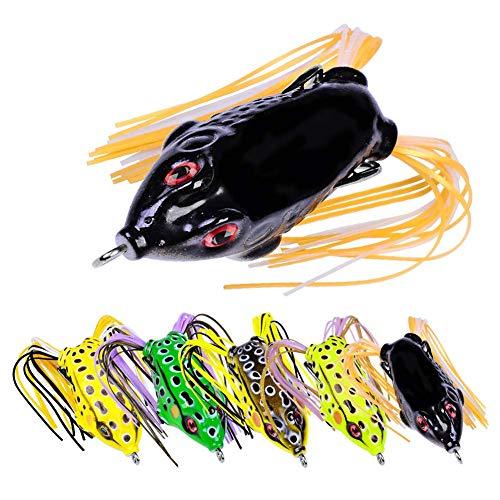 5 STÜCKE Angelköder Set Bionic Thunder Frog Road Lure Black Fish Tötung Fanggeräte Weichen Köder Blackfish Striped Bass -