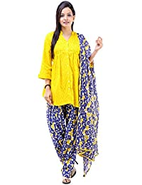 Vastra Vinod Women's Casual Wear Stunning Cotton Ethnic Set