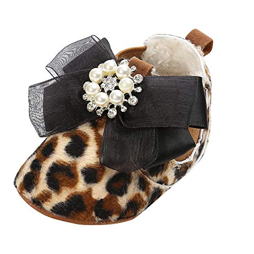 Ears Babyschuhe Baby Stiefel Schuhe Baumwolle Diamanten Schuhe weiche Sohle Stiefel Prewalker warme Lauflernschuhe Krippeschuhe (0-24 Monate Baby)